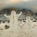 thumbs snowmen desert