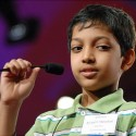"Arvind Mahankali, age 10 from Forest Hills, New York, competes in round four of the 2010 Scripps National Spelling Bee Semifinals at the Grand Hyatt Washington in Washington, DC., Friday, June 4, 2010. Arvind attends Forest Hills Montessori School, is sponsored by the New York Daily News, and spelled ""effleurage"" to advance to round five.   Original Filename: spellingbee_002.JPG"