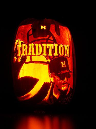 Sports pumpkin carvings