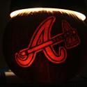 thumbs atlanta braves pumpkin carving