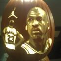 thumbs michael jordan pumpkin carving