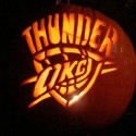 thumbs oklahoma city thunder pumpkin carving