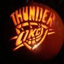 thumbs oklahoma city thunder pumpkin carving