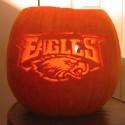 thumbs philadelphia eagles pumpkin carving