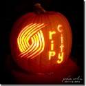 thumbs portland blazers pumpkin carving