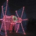thumbs christmas light tie fighter
