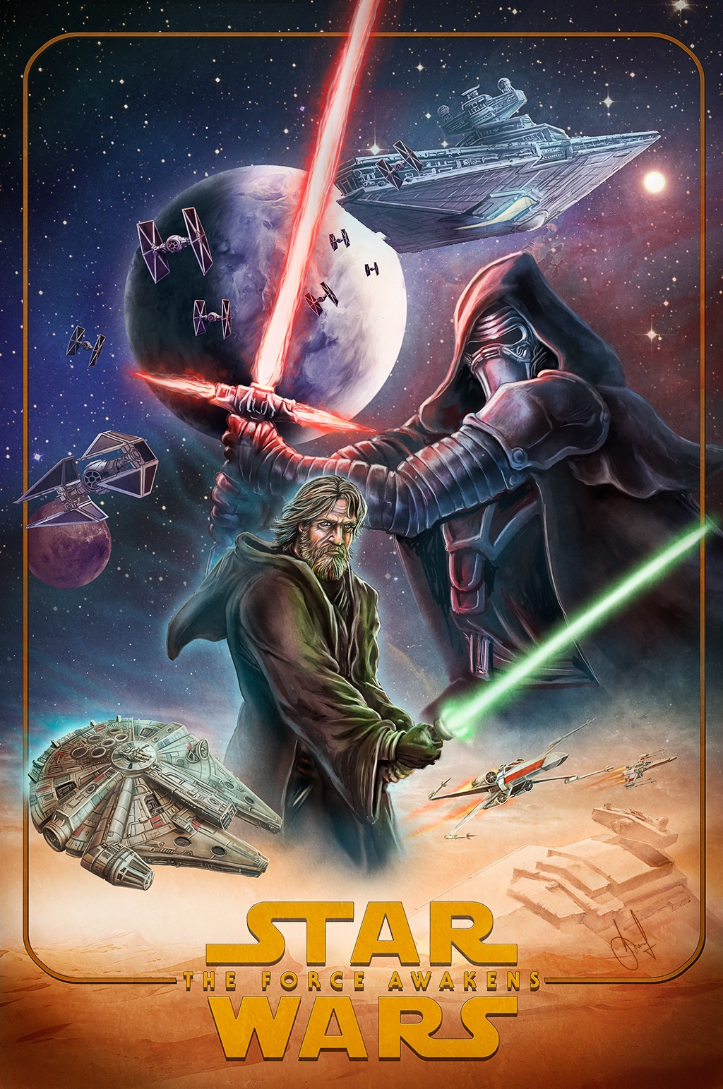 40 Epic Posters for Star Wars : The Force Awakens