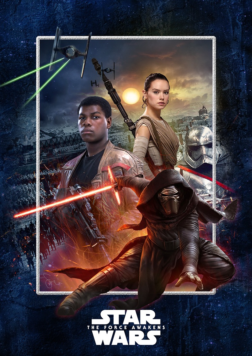 40 epic posters for star wars the force awakens
