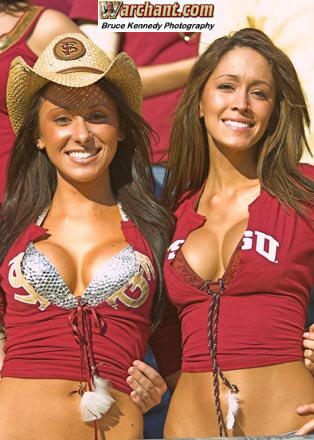 jenn sterger and the fsu cowgirls