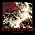 thumbs note to iron man iron man ironman thor avengers new mighty m demotivational poster 1249184783