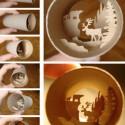 thumbs toilet paper roll art elias 07