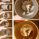 thumbs toilet paper roll art elias 08