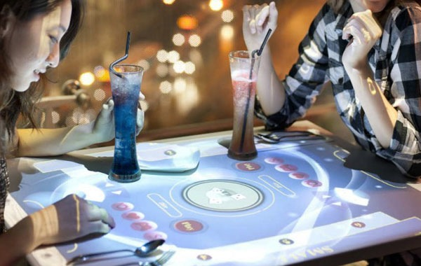 Interactive Touchscreen Restaurant Tables - Restaurant table games