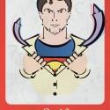 thumbs superman font serif
