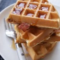 thumbs bacon cornmeal waffles