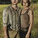 Glenn (Steven Yeun) and Maggie Greene (Lauren Cohan) - The Walking Dead - Gallery Photography - PHoto Credit: Frank Ockenfels/AMC