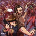 thumbs walking dead fan art e