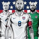 thumbs united states world cup poster